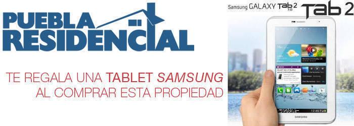 PueblaResidencial.com Te Regala una Tablet Samsung